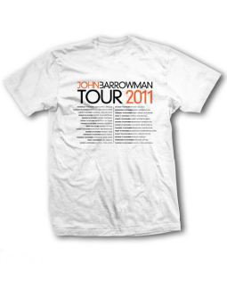 White tour t-shirt Back