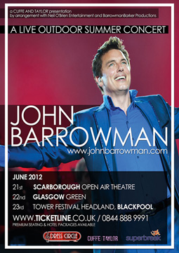 Poster for John's 2012 summer concerts