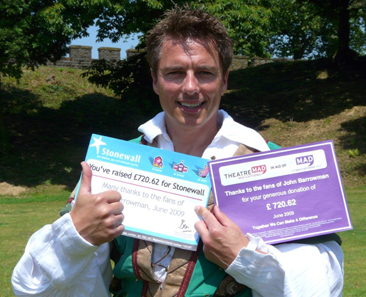 JB with the Stonewall and TheatreMAD Certificates