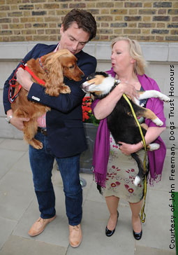 John and Charlie with Deborah Meaden and Oreo
