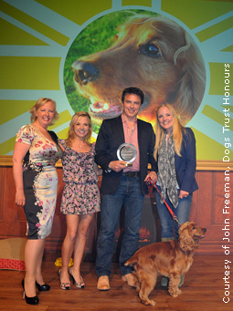 John and Charlie at the Dogs Trust Honours