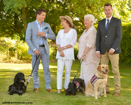 John, with Esther Rantzen, Pam St Clements and Tim Vincent