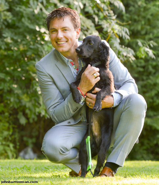 John with a novice hearing dog