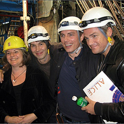 Sue Rider (Dr. Cox's manager), Dr Brian Cox, John and Gavin