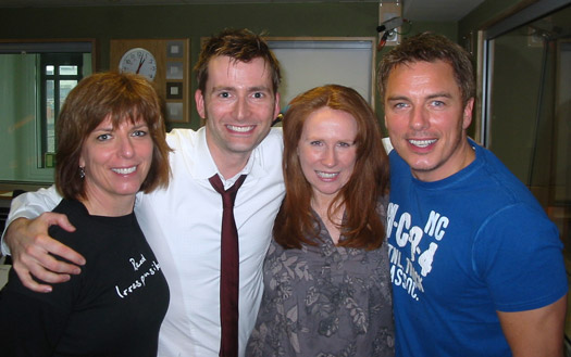 John, Carole, Catherine Tate and David Tennant