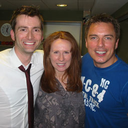 John, David Tennant and Catherine Tate