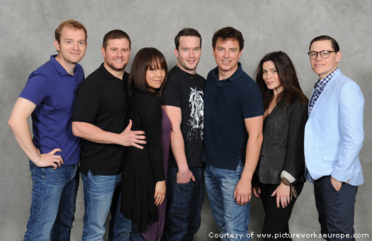 John and the Torchwood cast at The Greatest Show in the Galaxy