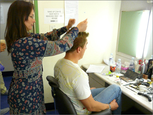 John in hair and makeup