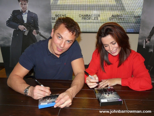 John and Eve at the signing event at HMV