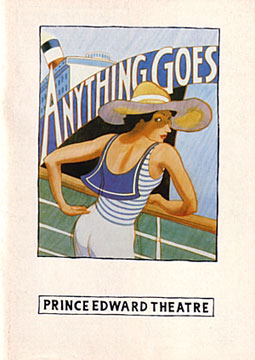 Programme Cover for Anything Goes