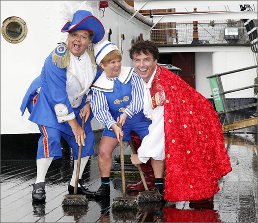 John as Robinson Crusoe with the Krankies
