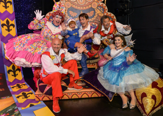John with the cast of Dick Whittington