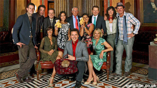 The cast of Around the World at the Reform Club