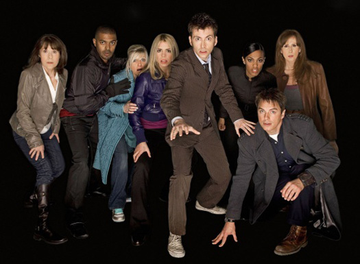 John with the Tenth Doctor and the rest of the Series 4 cast